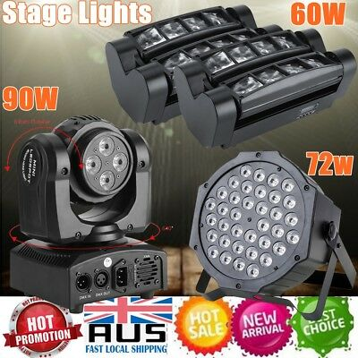 60/72/90W RGBW LED Lights Laser Stage Effect Lighting Disco DJ Party Light DMX