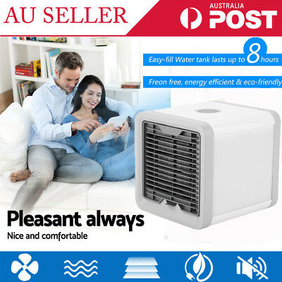 AU Portable Mini Air Conditioner Cool Cooling For Bedroom Artic Space Cooler Fan