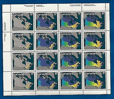 CANADA Canadian 17 cent postage stamp sheet expansion of Provinces MNH