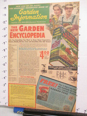 newspaper ad 1944 Wm WISE Garden Encyclopedia Victory foes book American Weekly