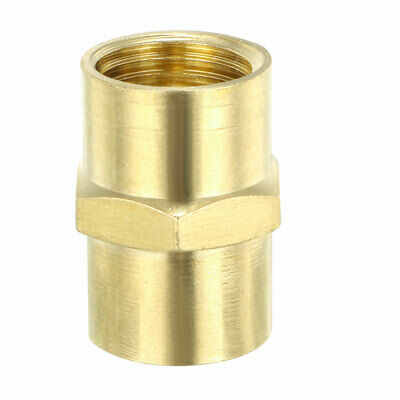 """Brass Pipe Fitting , Equal Coupling Hex Head, 1/4"""" NPT ×1/4"""" NPT Female"""