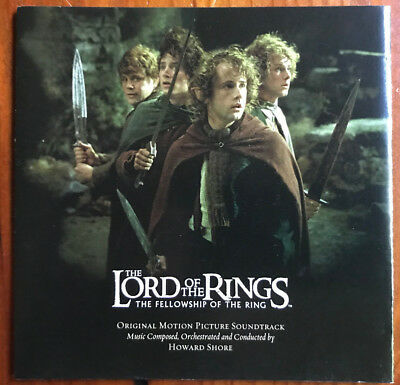 The Lord of the Rings - The Fellowship of the Ring Soundtrack CD - Howard Shore