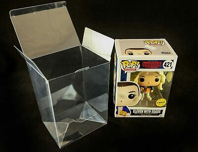 "50 x Vinyl Display crashlock Cases Box s  4"" Protectors for Funko Pop figures"