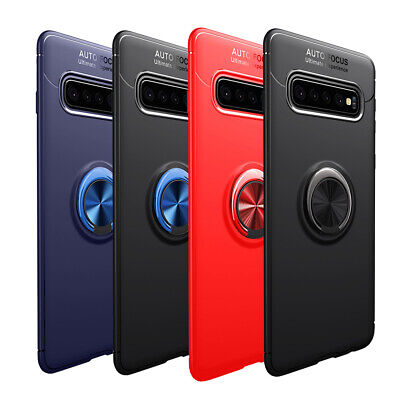 Dooqi For Samsung Galaxy S10 / S10e / S10+ Plus Metal Magnetic Ring Case Cover