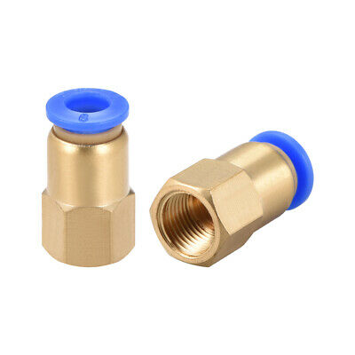 "Push to Connect Tube Fitting Adapter 6mm OD x G1/8"" Female 2pcs"