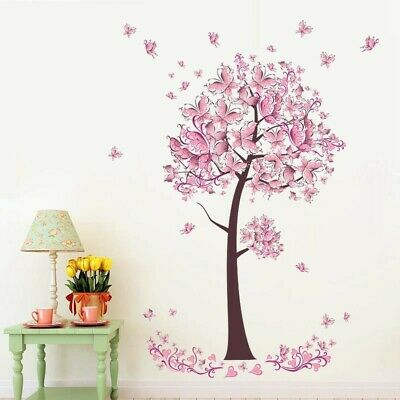 Marvelous Flower Tree Nursery Home Wall Stickers Removable Decal Kids Download Free Architecture Designs Rallybritishbridgeorg