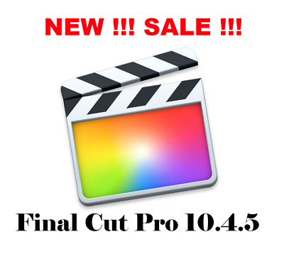 Final Cut Pro 10.4.5 NEW SALE !!! Unlimited License!Free Shipping!inst Download!