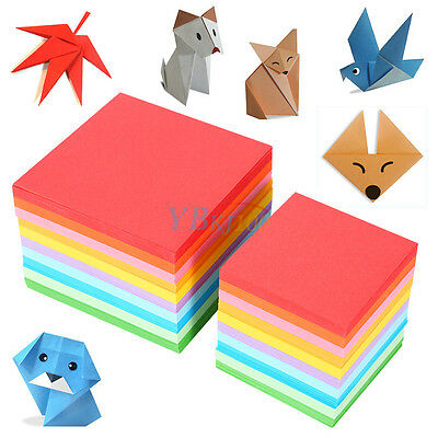 520 pcs Square Double Sided Colored Origami Folding Lucky Wish Paper DIY Crafts