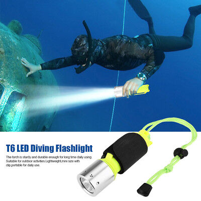 TORCIA LED Subacquea 60 metri LUCE impermeabile immersione diving SUB snorkeling
