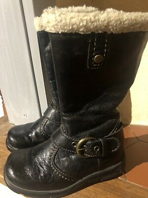on feet images of watch official photos BOTTE EN CUIR Fille Taille 25 Marque André