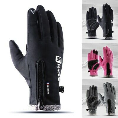 AU Women Men Thermal Ski Glove Windproof Snowboard Snow Motorcycle Skiing Gloves