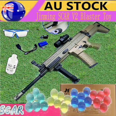 Electric Jinming SCAR V2 Gun Gel Blaster Mag-fed Toy Gun Tan Shoting Game Toy AU