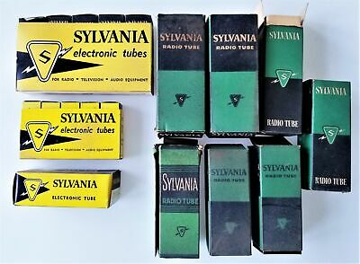 LOT vintage ELECTRONIC VACUUM TUBES untested 18pc SYLVANIA nos assorted