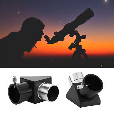 1.25'' 90-Degree Zenith Mirror Prism Diagonal Adapter for Astronomical Telescope