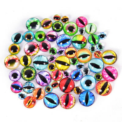 20Pcs Glass Doll Eye Making DIY Crafts For Toy Dinosaur Animal Eyes Accessory GN