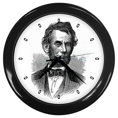 Abraham Lincoln President Portrait Art Wall Clock