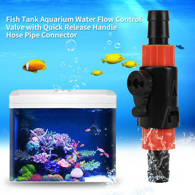Aquarium Marine Fish Tank Throttle Valve Water Hose Flow Control Switch S/L NEW