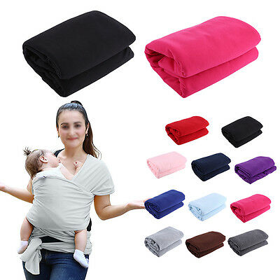 Solid Color Baby Carrier Cover Infant Soft Breathable Hipseat Sling Cotton Wrap
