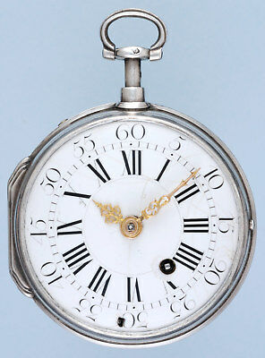 Early Silver Quarter Repeating French Verge Pocket Watch