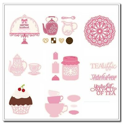 Afternoon tea Mixed Metal Cutting Dies Stencil Scrapbook Embossing Handcrafts
