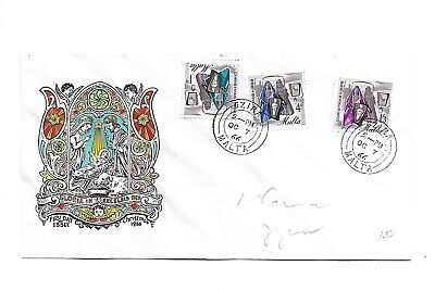 Malta ( Christmas ) 1966 Set of 3 stamps on First Day Cover