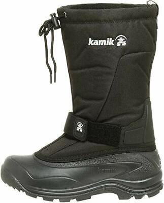 7b5ece9192b NEW KAMIK GREEN Bay 4 Quality Mens Size 9 Jet Black Boots Snow EUC ...