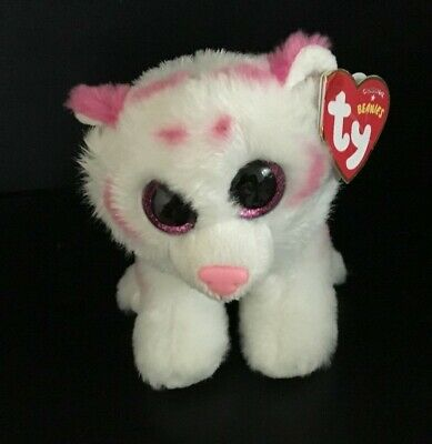 0d76fe9b95b Ty Classic Beanie Babies Classic TABOR the TIGER White Tiger with Pink  Stripes