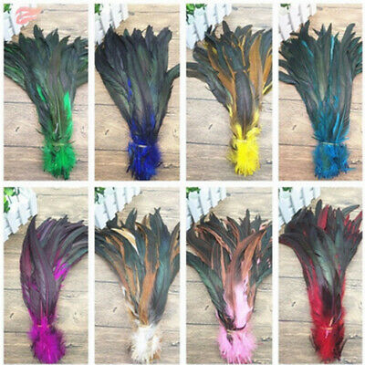 Wholesale 10-500 PCS 8-14inches/20-35cm  Beautiful Rooster Tail Feathers