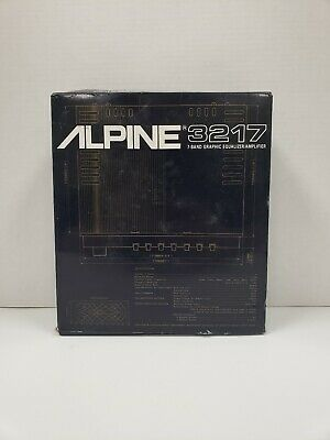 Old School ALPINE 3217 7- Band Graphic Equalizer Complete Fully Working NEW