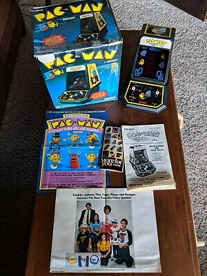 VINTAGE 1981 Midway Coleco 2390 PAC-MAN mini arcade W/ BOX + BOOKLETS + POSTERS