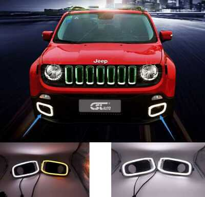 Coppia Luci Diurne Drl Led Canbus Jeep Renegade