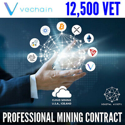 12,500 VeChain ( VET ) Guaranteed Cryptocurrency Mining Contract