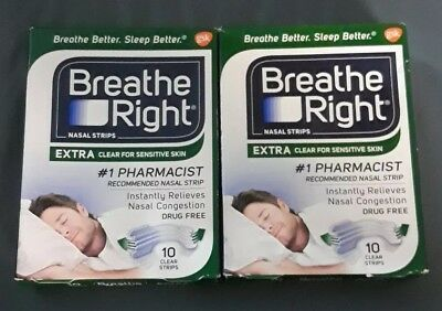 Breathe Right Extra Clear for Sensitive Skin, 10 Count