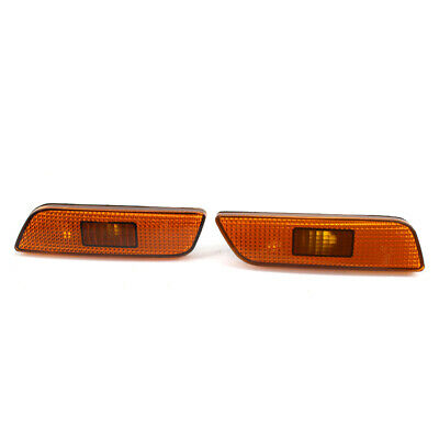 LR Front Bumper Turn Signal Parking Light Fit for Volvo S80 1998-2006 Bright