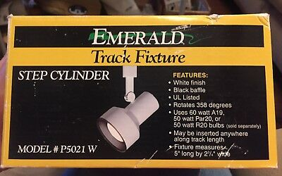 New Emerald Track Light Fixture White With Black Baffle P5021w Cooper Lighting
