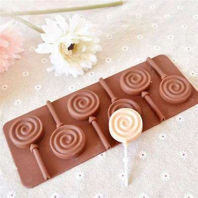Round Lollipop Mold Cake Silicone Mould For Candy Chocolate Cookie Ice Craft QK