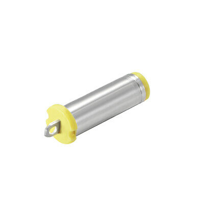 DC Female Connector 5.5mm x 2.1mm Power Jack Solder Adapter Yellow 100Pcs
