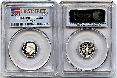 2014-S Silver Proof Roosevelt Dime PCGS PR70DCAM First Strike
