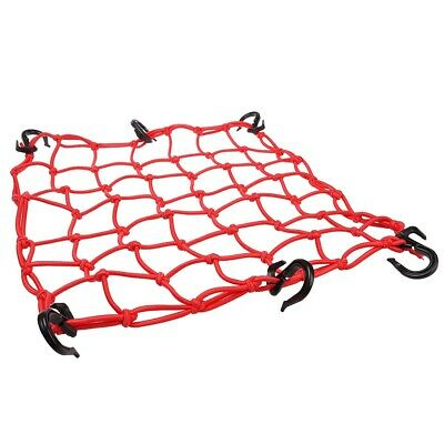 """15""""x15"""" Bungee Cargo Net 6 Adjustable Hook Stretch to 30""""x30"""" Motorcycle Red"""