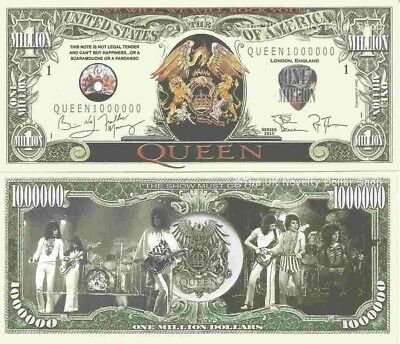 Queen We Will We Will Rock You Million Dollar Bills x 2 British Rock Band