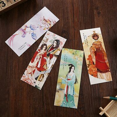 Aikeen® 30pcs/set Chinese Tradtional Style Bookmark, Colorful Lovely Paper Book