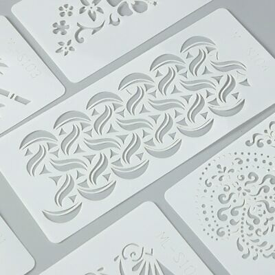 Aikeen® Layering Stencil For DIY Scrapbooing Soft Plastic Reusable Ruler Stencil