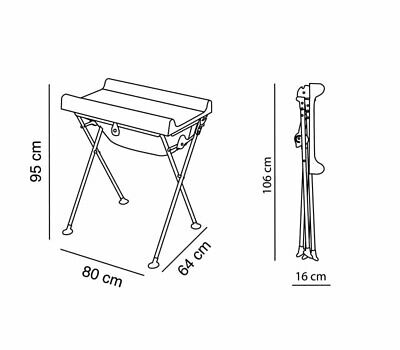 Bagnetto,Fold Away, Baby Changer,Changing Table-Bath Tub Station.NEW 1/2 PRICE !