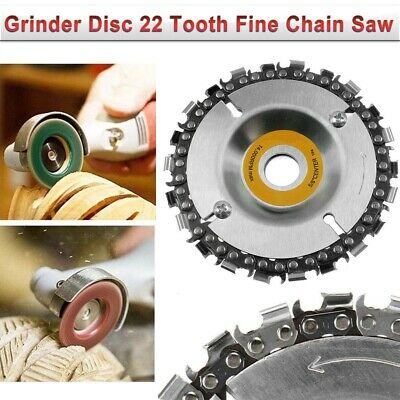 US Grinder Disc Tooth Fine Chain Saw 4 Inch Angle Carving Culpting Wood Plastics