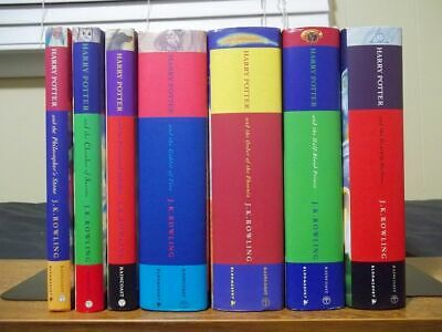 Complete Set of 7 Harry Potter Hardcovers with Dust Jackets - Canadian/UK Prints