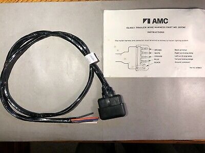 NOS AMC JEEP Cherokee XJ 5 pin Trailer Side Tow Wiring ... Xj Trailer Wiring Harness on