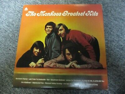 The Monkees Greatest Hits 1976 LP Arista Records AL 4089 VG+ Vinyl