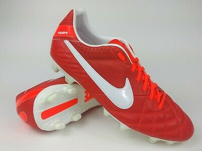 sports shoes 49b01 25370 Nike Mens Rare Tiempo Mystic IV FG 454309-618 Red White Soccer Cleats Size  10