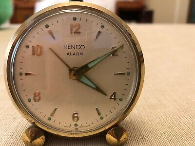 Vintage Renco Alarm Clock Germany Made - Clock and Alarm Tested
