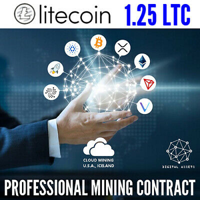 1.25 Litecoin ( LTC ) Guaranteed Cryptocurrency Mining Contract